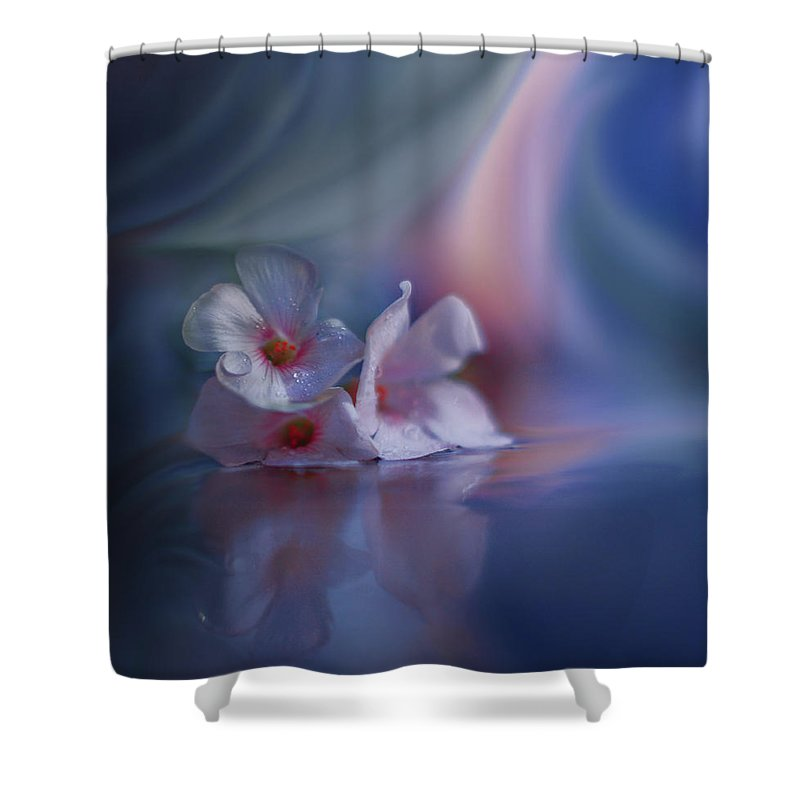 Aesthetic Shower Curtain featuring the photograph Beyond The Visible... by Juliana Nan