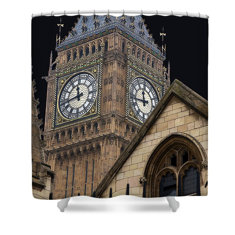 Icons Shower Curtain featuring the photograph Big Ben by David Resnikoff