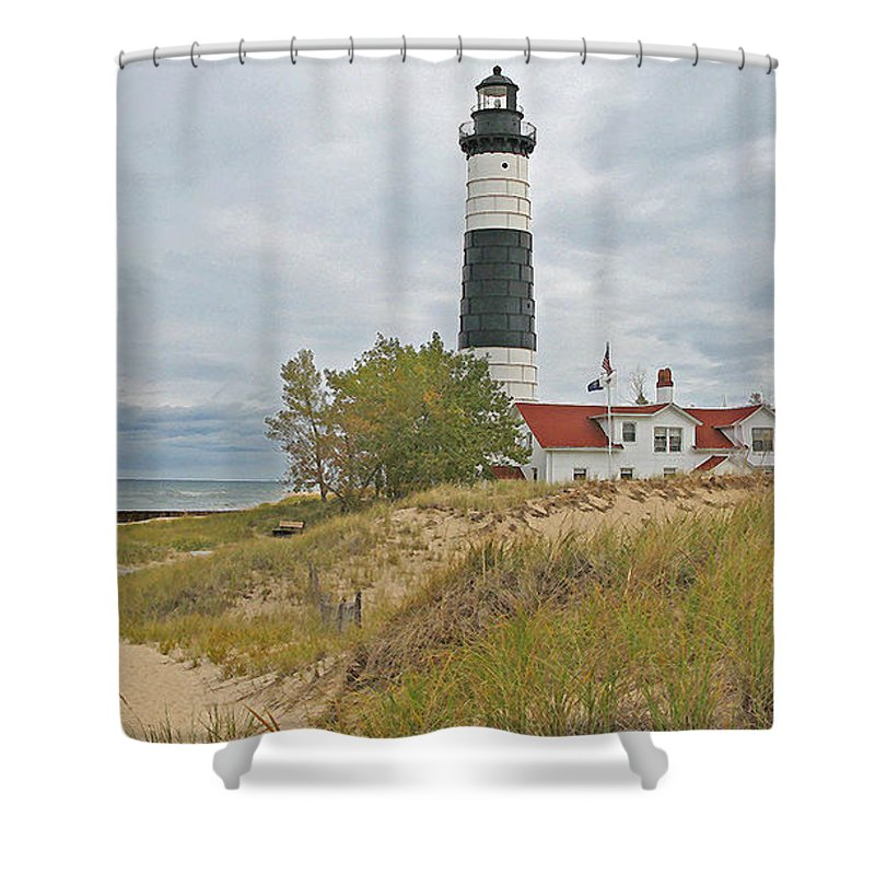 Lighthouse Shower Curtain featuring the photograph Big Sable Lighthouse by Jack Schultz