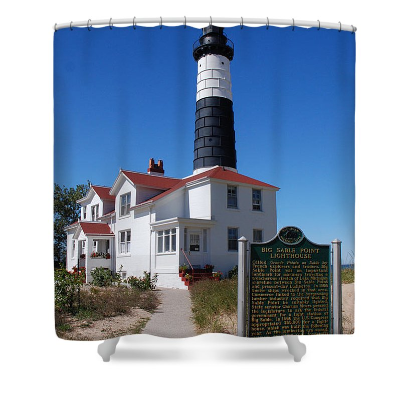 Lighthouse Shower Curtain featuring the photograph Big Sable Point Lighthouse by Grace Grogan