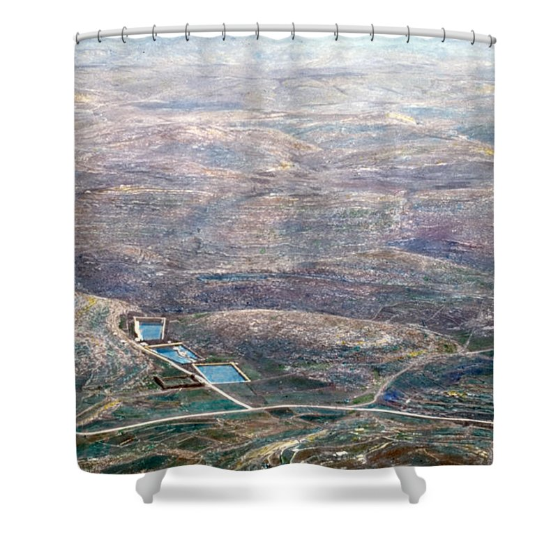 Solomon's Pools Shower Curtain featuring the photograph Bird Eye On Solomon's Pools by Munir Alawi