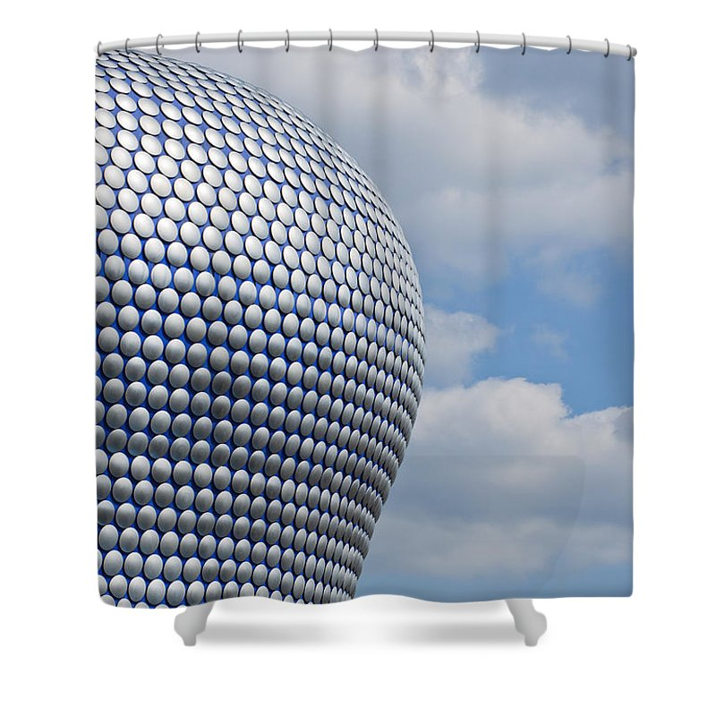 Birmingham Shower Curtain featuring the photograph Birmingham Modern Building by Andrew Michael