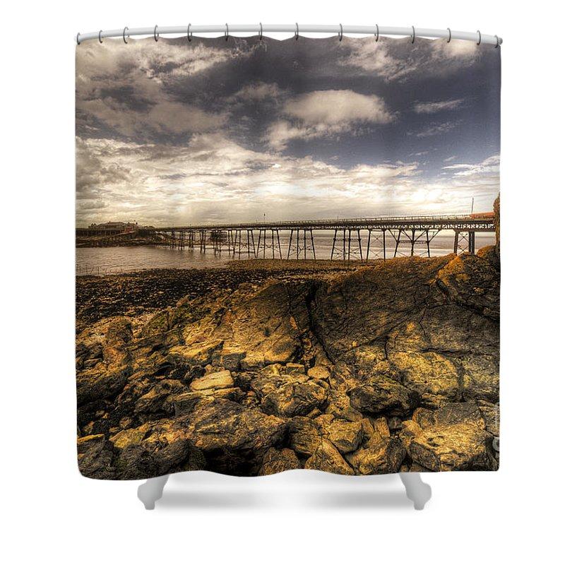 Birnbeck Shower Curtain featuring the photograph Birnbeck Pier by Rob Hawkins