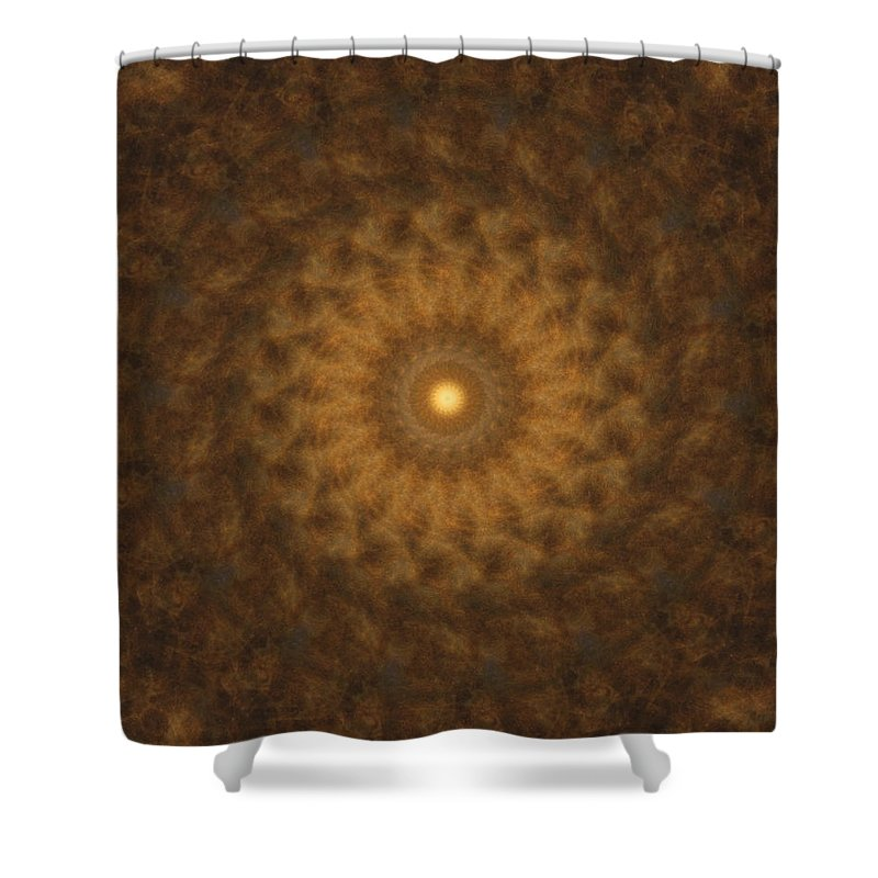 Mandala Shower Curtain featuring the digital art Birthing Mandala 19 by Rhonda Barrett