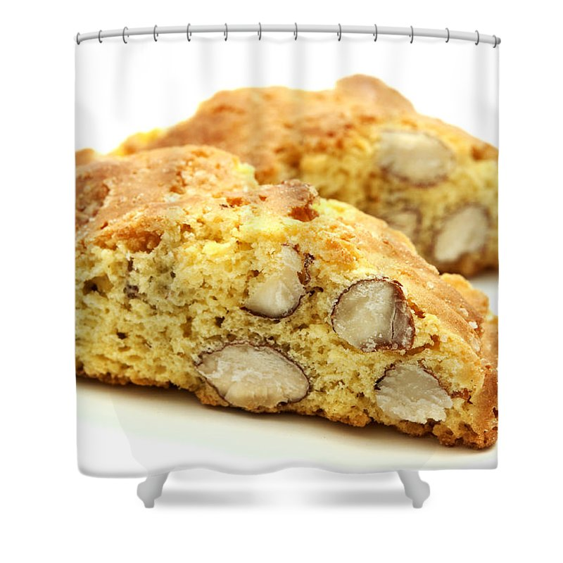 Cantucci Shower Curtain featuring the photograph Biscotti  by Fabrizio Troiani