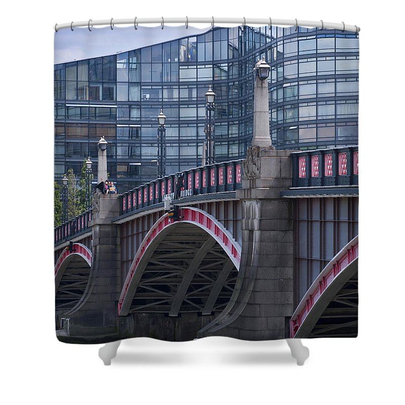 Blackfriar Shower Curtain featuring the photograph Blackfriars Bridge by Andrew Michael