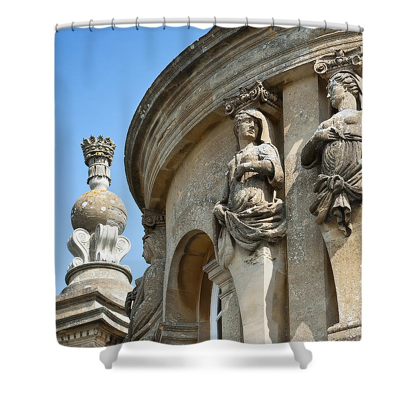 2011 Shower Curtain featuring the photograph Blenheim Palace Detail by Andrew Michael