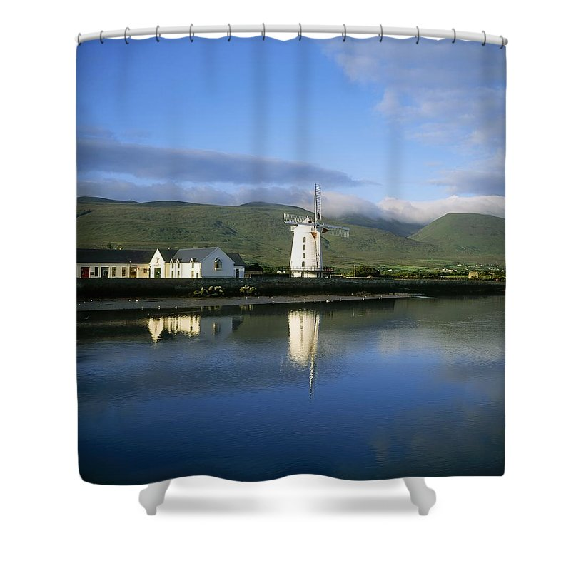 Day Shower Curtain featuring the photograph Blennerville Windmill, Blennerville, Co by The Irish Image Collection