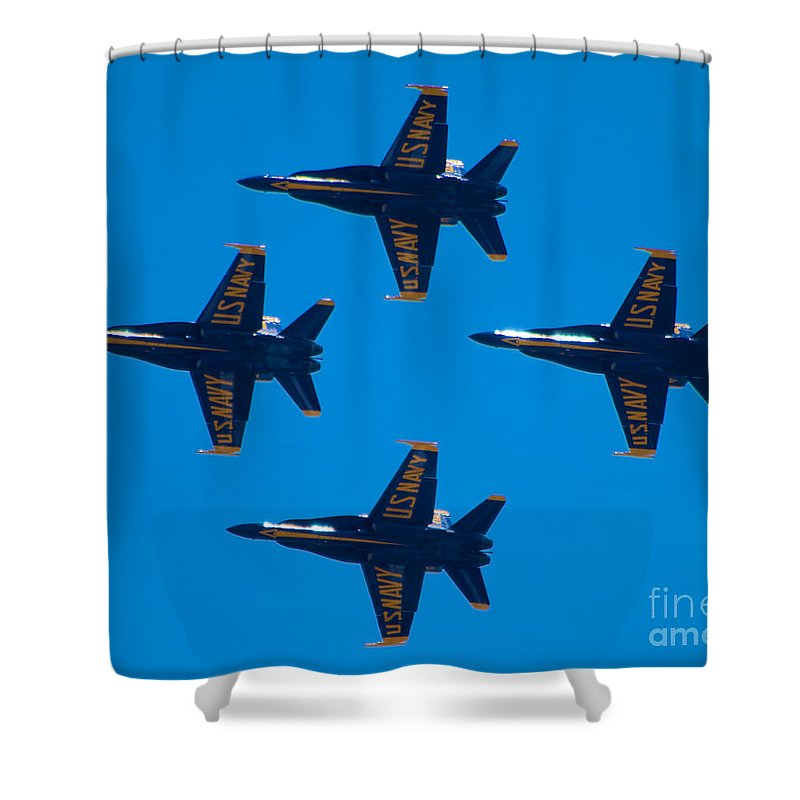Blue Angels Shower Curtain featuring the photograph Blue Angels 10 by Mark Dodd