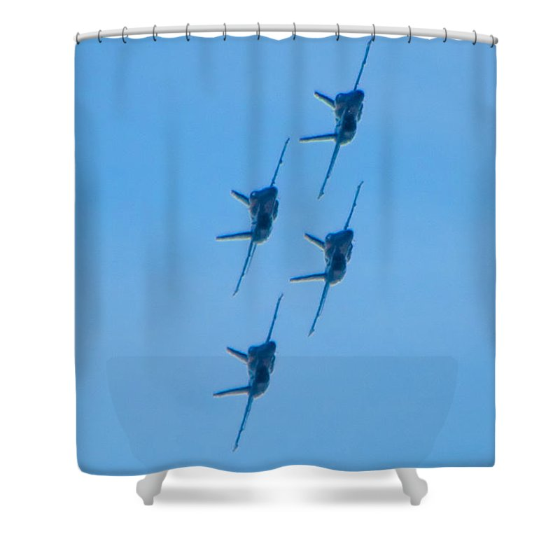 Blue Angels Shower Curtain featuring the photograph Blue Angels 6 by Mark Dodd
