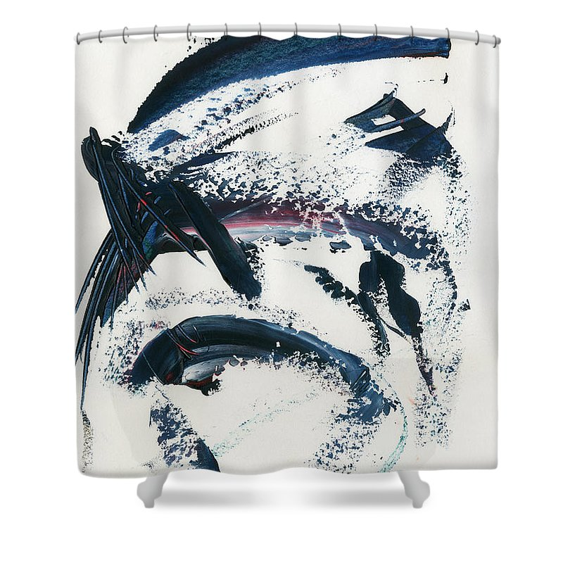 00001_c_12aj2kmfv50001 Shower Curtain featuring the painting Blue Dawn by Taylor Webb