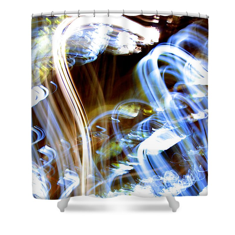 Glowing Shower Curtain featuring the photograph Blue Days by Ric Bascobert