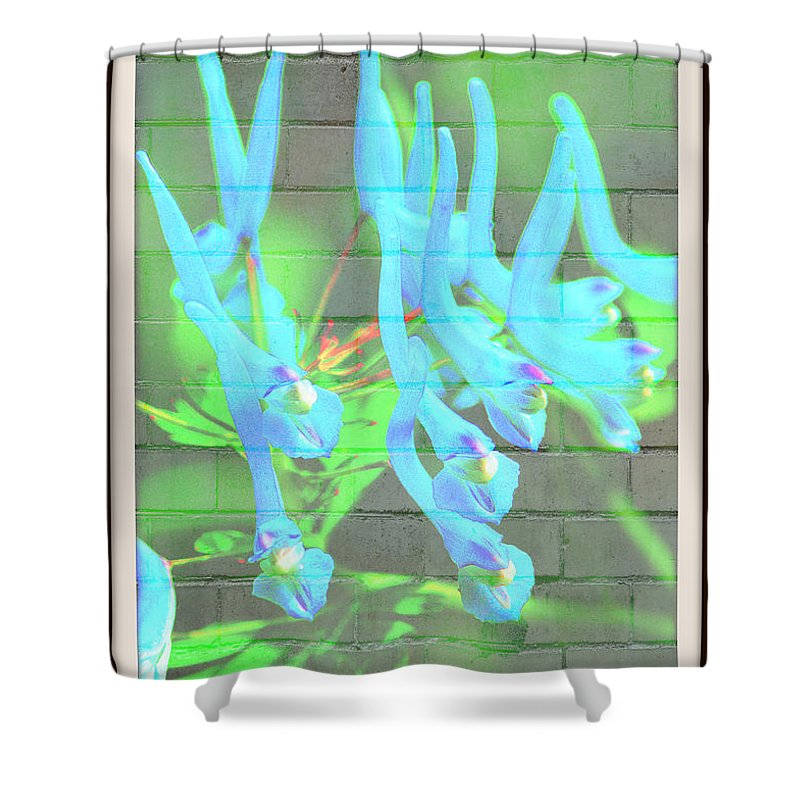 Flowers Shower Curtain featuring the photograph Blue Flower Abstract by Randy Harris