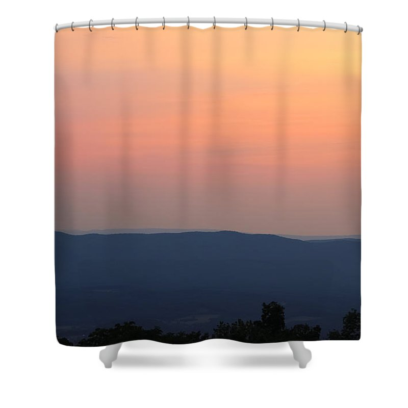 Blue Ridge Evening Shower Curtain featuring the photograph Blue Ridge Evening by Rachel Cohen