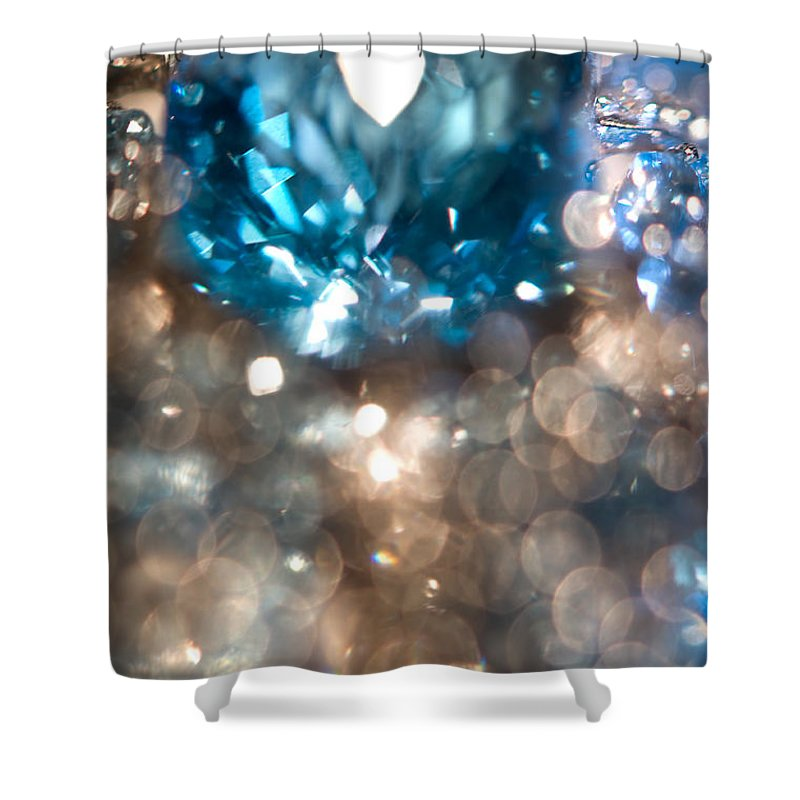 Jenny Rainbow Fine Art Photography Shower Curtain featuring the photograph Blue Topaz. Spirit Of Treasure by Jenny Rainbow