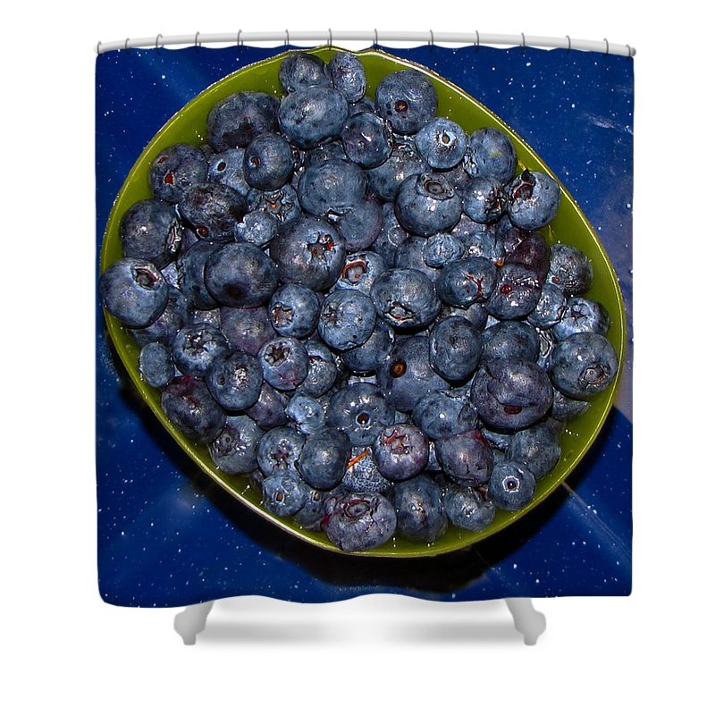 Blueberries Shower Curtain featuring the photograph Blueberries by Denise Keegan Frawley