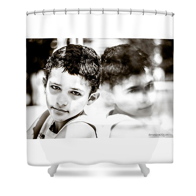 Portrait Shower Curtain featuring the photograph Blurred Thoughts by Stwayne Keubrick