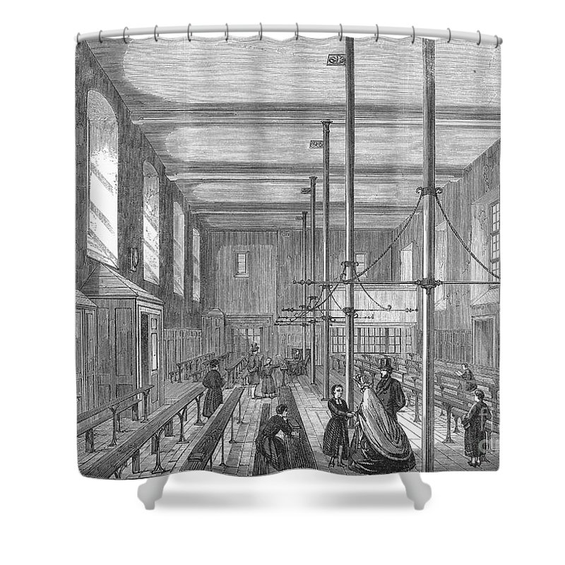 1862 Shower Curtain featuring the photograph Boarding School, 1862 by Granger