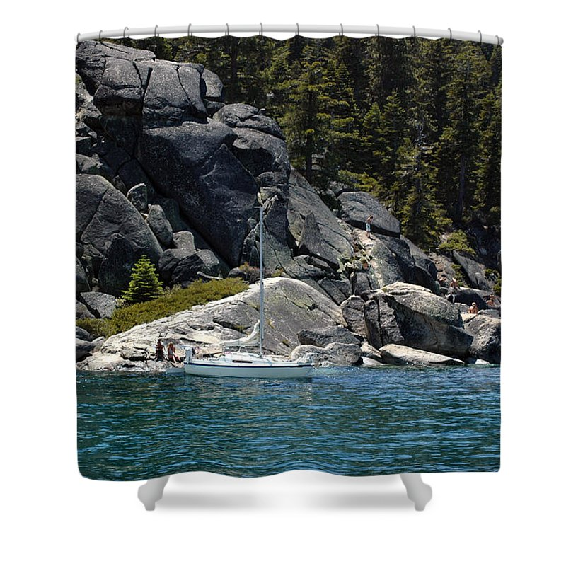 Usa Shower Curtain featuring the photograph Boat A Rockin by LeeAnn McLaneGoetz McLaneGoetzStudioLLCcom