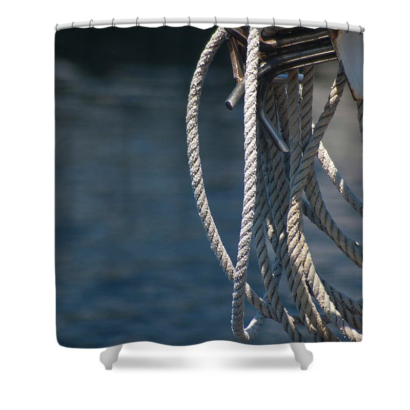 Boat Shower Curtain featuring the photograph Boating Time by Carolyn Marshall
