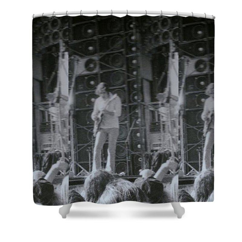 Seven Shower Curtain featuring the photograph Bob Weir Grateful Dead 74 Dsm Ia by Tim Donovan