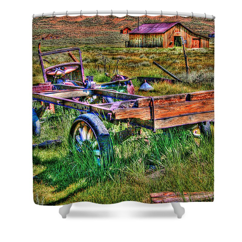 Hdr Shower Curtain featuring the photograph Bodie Vintage Flatbed by Chris Brannen