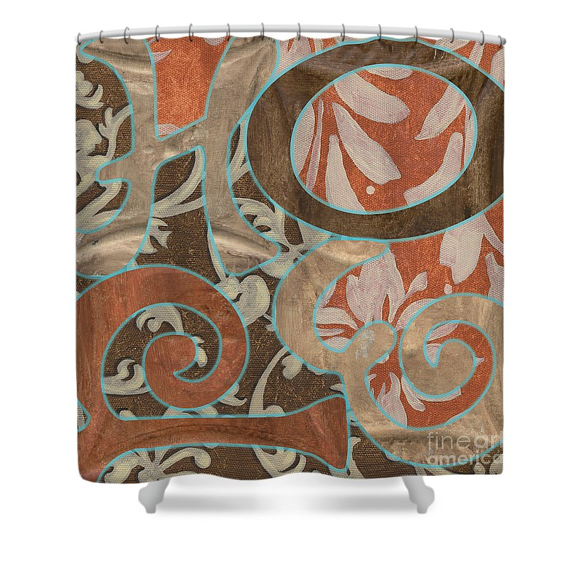 Hope Shower Curtain featuring the painting Bohemian Hope by Debbie DeWitt
