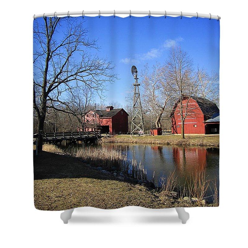 Bonneyville Mill Shower Curtain featuring the photograph Bonneyville Mill by Laura Kinker