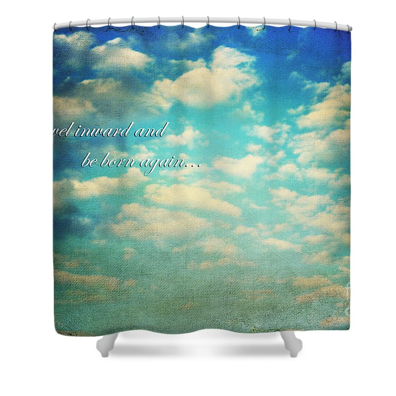 Above Shower Curtain featuring the photograph Born Again by Darren Fisher