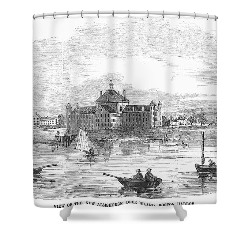 1852 Shower Curtain featuring the photograph Boston: Almshouse, 1852 by Granger