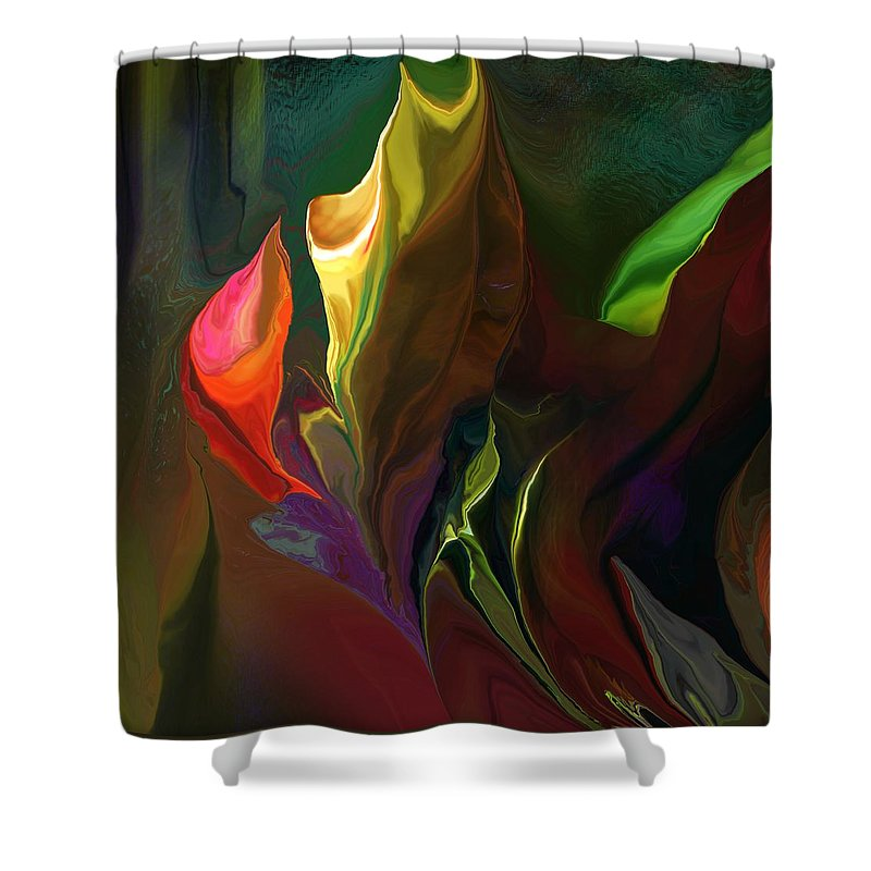Fine Art Shower Curtain featuring the digital art Botanical Fantasy 121211 by David Lane