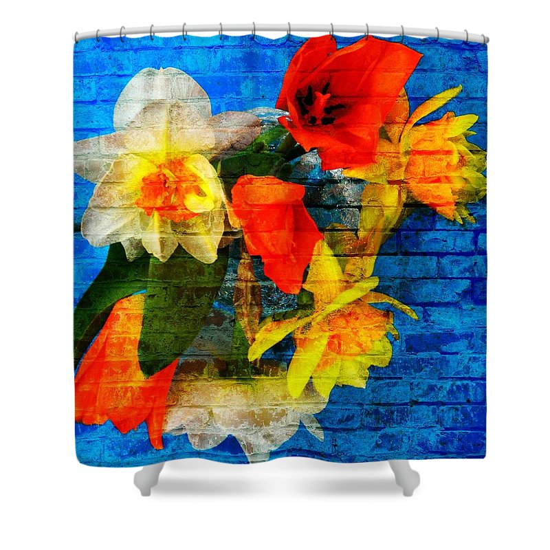 Spring Shower Curtain featuring the photograph Botanical Graffiti by Chris Berry