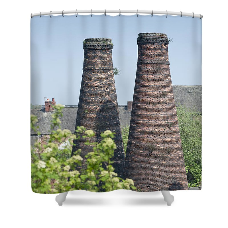 2011 Shower Curtain featuring the photograph Bottle Kilns by Andrew Michael