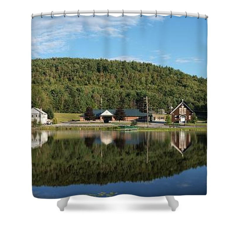 Adirondacks Shower Curtain featuring the photograph Brant Lake Reflections by Joshua House