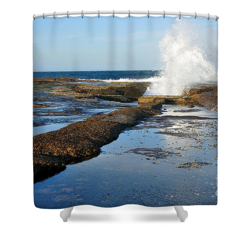 Photography Shower Curtain featuring the photograph Breaking Surf by Kaye Menner