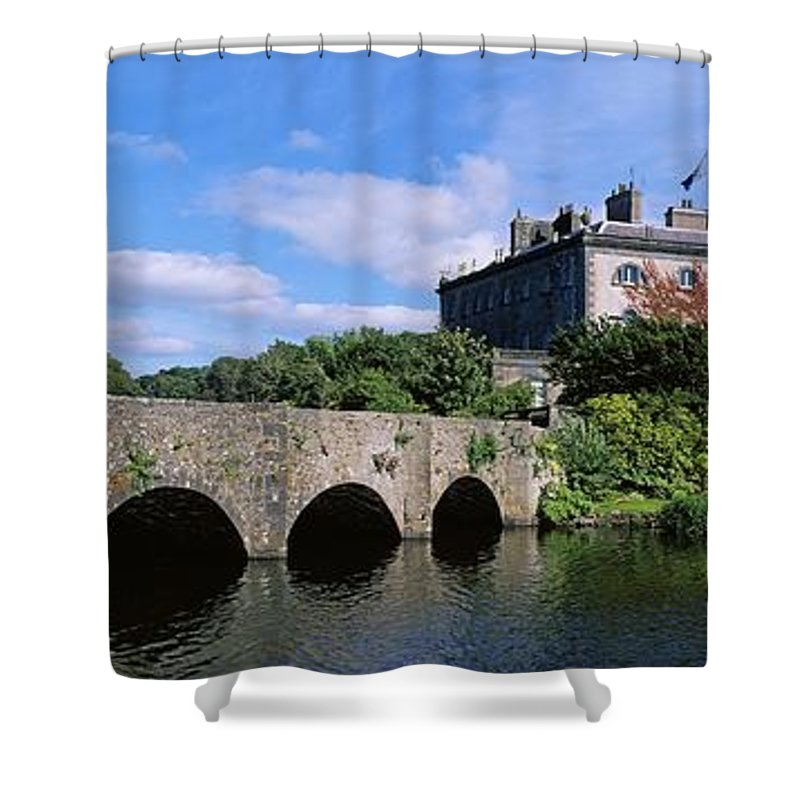 18th Century Shower Curtain featuring the photograph Bridge Across A Lake, Westport House by The Irish Image Collection