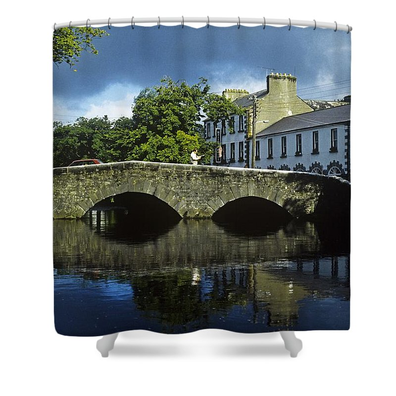 Architecture Shower Curtain featuring the photograph Bridge Over A River In Front Of by The Irish Image Collection