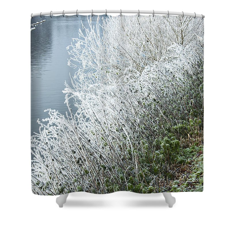 2010 Shower Curtain featuring the photograph Bridge Over The River Severn by Andrew Michael