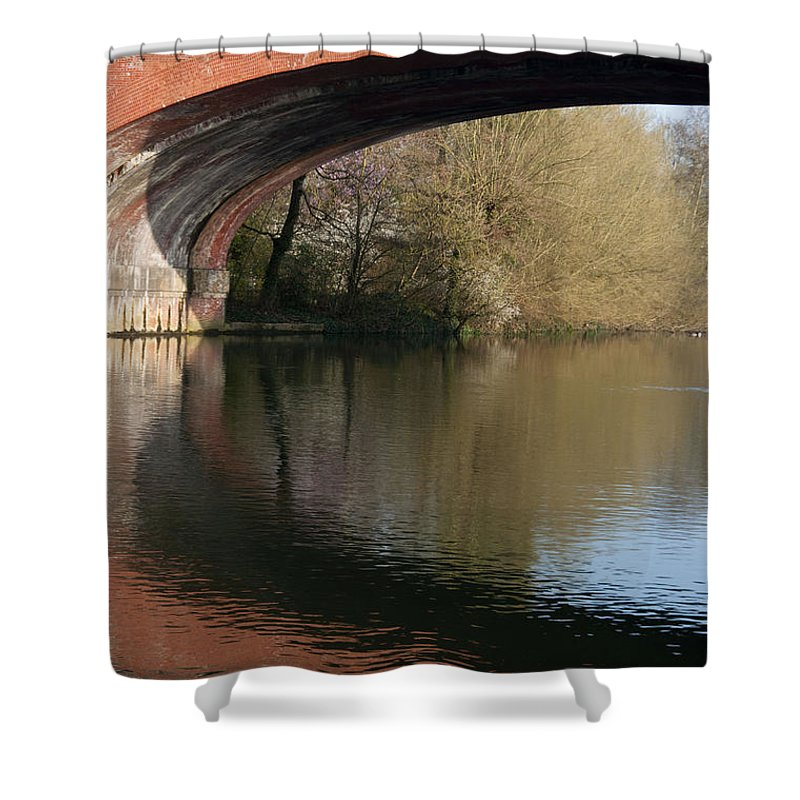 2011 Shower Curtain featuring the photograph Bridge Reflections by Andrew Michael