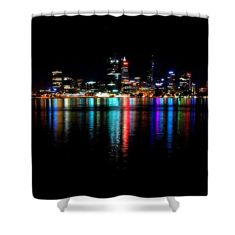 Perth Shower Curtain featuring the photograph Bright Lights Big City by Rob Hawkins