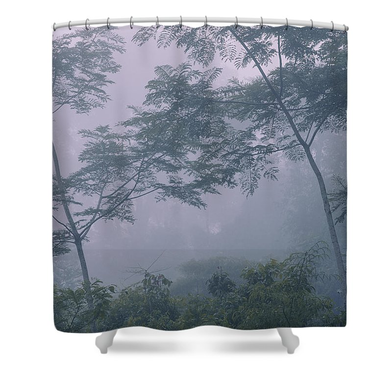 Scenic Views Shower Curtain featuring the photograph Brilliant White Sailboat Approaches by Mattias Klum