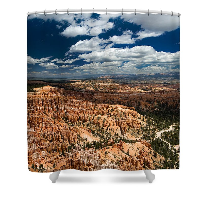 Bryce Shower Curtain featuring the photograph Bryce Canyon Ampitheater by Larry Carr