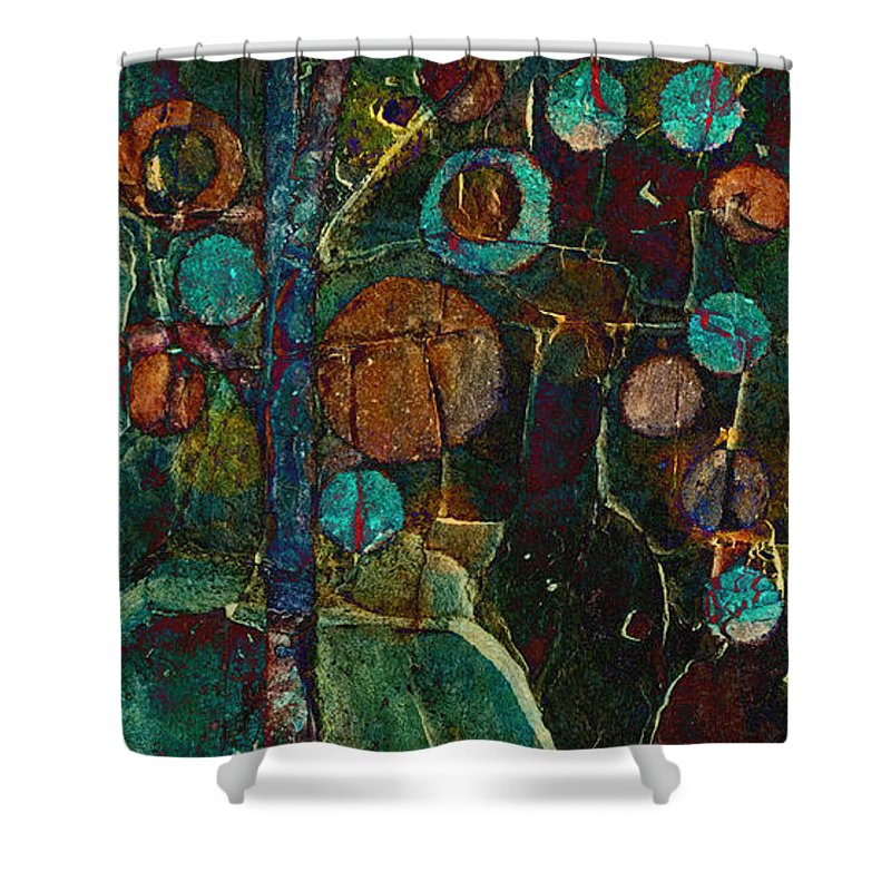 Tree Shower Curtain featuring the painting Bubble Tree - Spc01ct04 - Right by Variance Collections