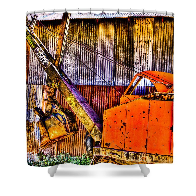 Old Truck Shower Curtain featuring the photograph Bucyrus Erie Shovel by Jon Berghoff