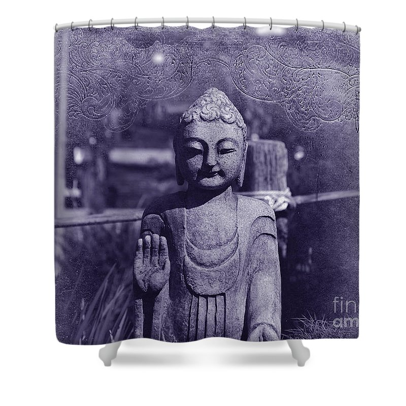 Buddha Shower Curtain featuring the photograph Buddhas Words by Susanne Van Hulst