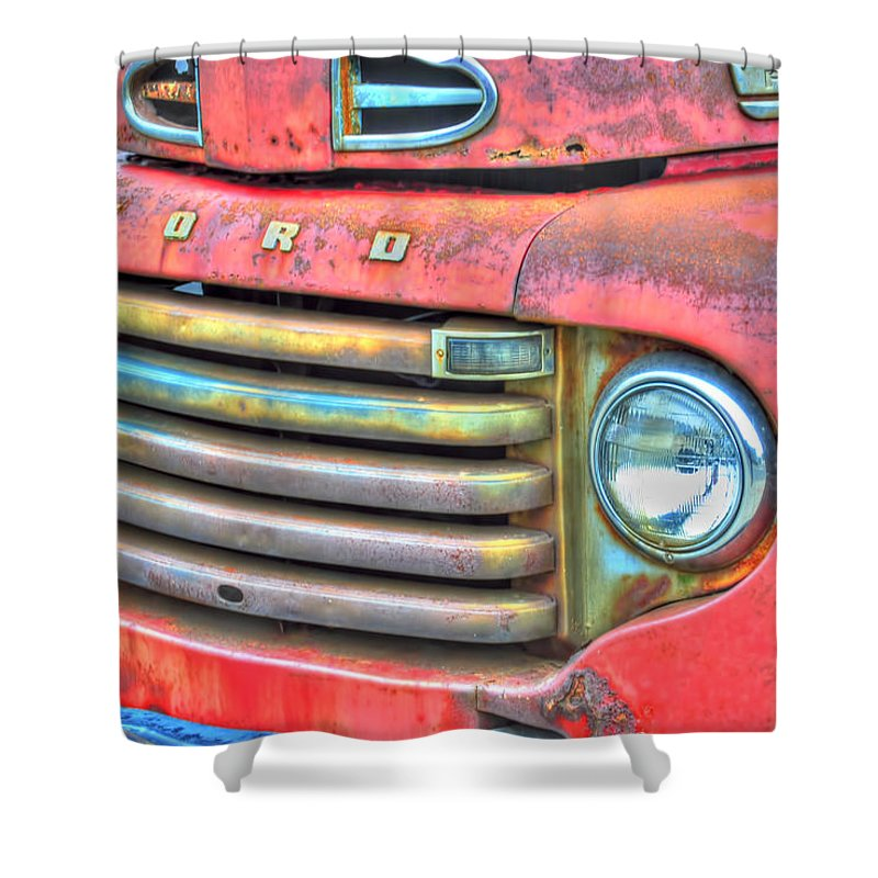 Shower Curtain featuring the photograph Built Like A Rock Series 01 by Michael Frank Jr