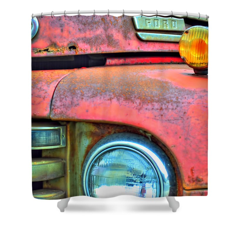 Shower Curtain featuring the photograph Built Like A Rock Series 04 by Michael Frank Jr
