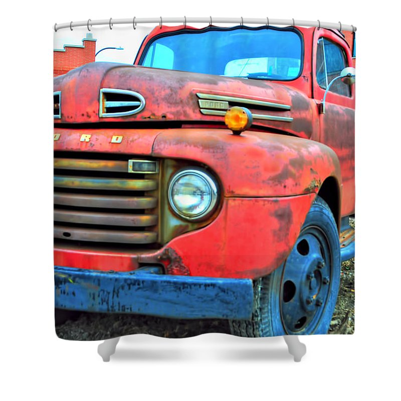 Shower Curtain featuring the photograph Built Like A Rock Series 05 by Michael Frank Jr
