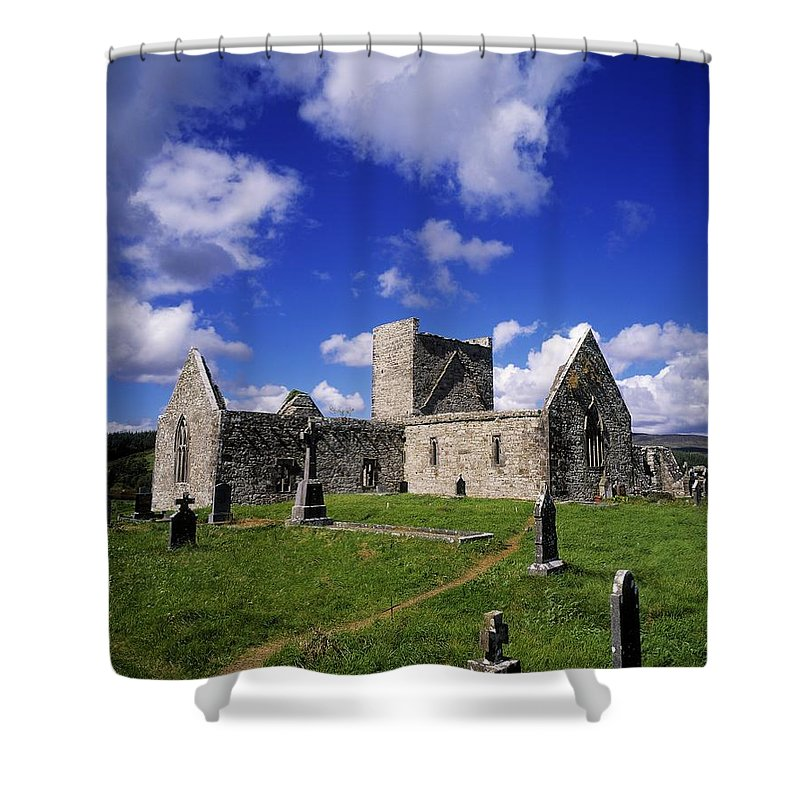 Archeology Shower Curtain featuring the photograph Burrishoole Friary, Co Mayo, Ireland by The Irish Image Collection