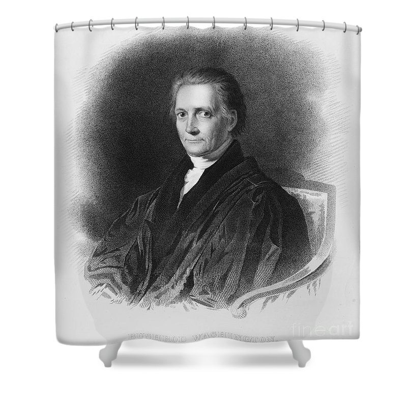 19th Century Shower Curtain featuring the photograph Bushrod Washington by Granger